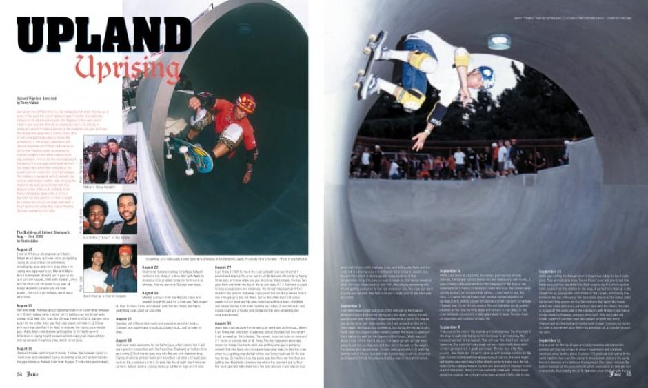 UPLAND SKATEPARK photos by Dan Levy, Bryce Kanights and Ted Terrebonne.