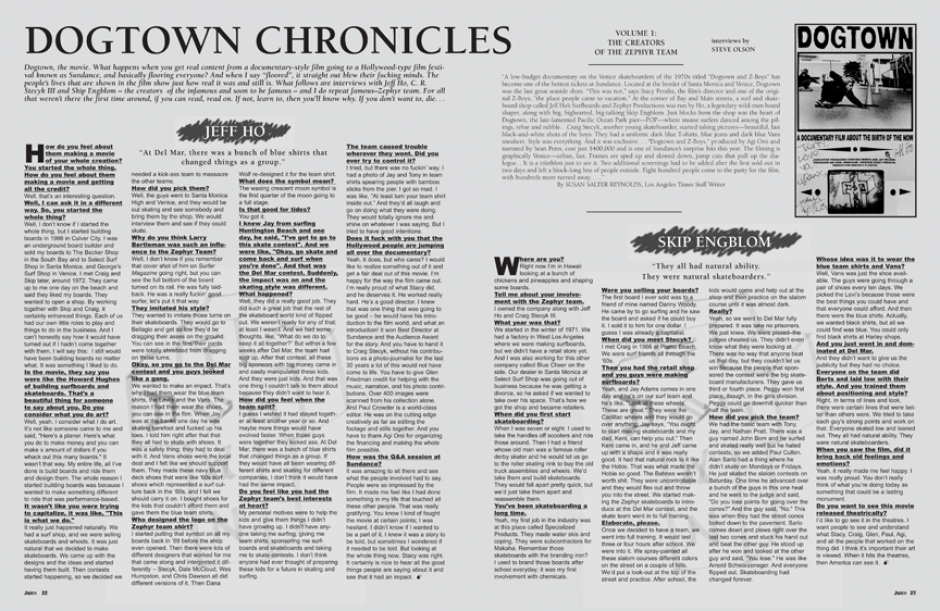 DOGTOWN CHRONICLES: JEFF HO