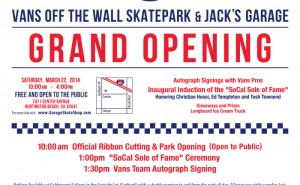 Vans Off The Wall Skatepark and Jack's Garage Grand Opening