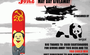 Enjoi Skateboards Giveaway