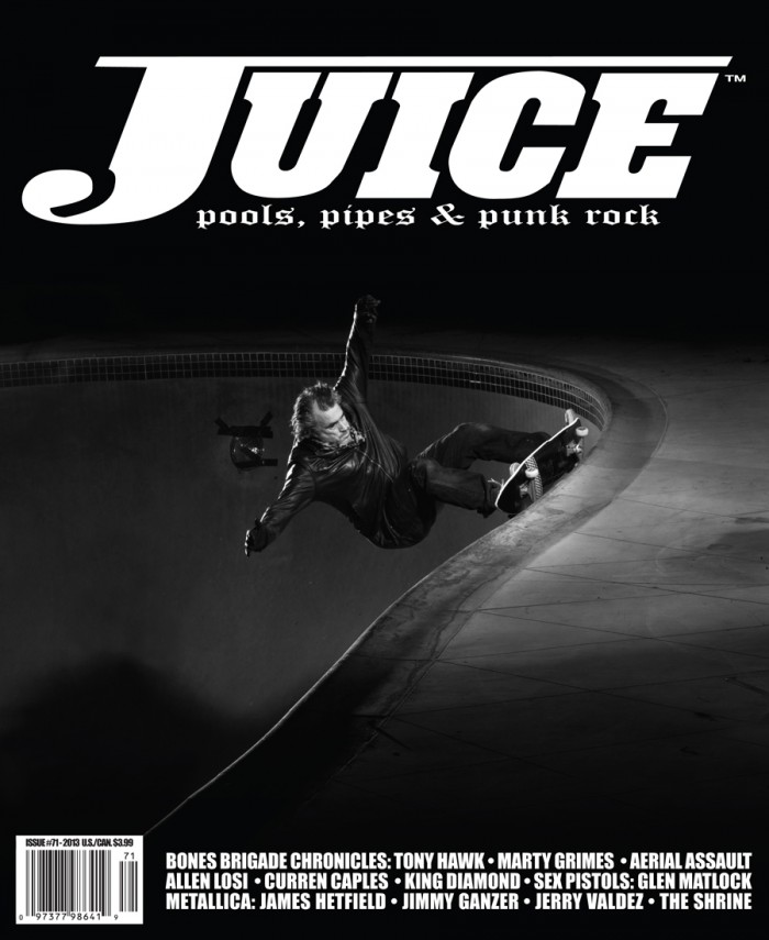 JUICE MAGAZINE #71 FEATURES STEVE OLSON ON THE COVER. PHOTO BY ARTO SAARI.