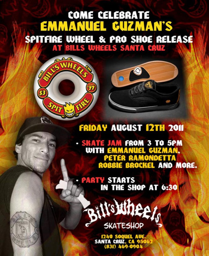 Emmanuel Guzman Shoe & Wheel Release at Bills Wheels