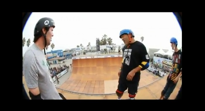 Steve Caballero at Sonic Gerenation Skate Event in Venice Beach