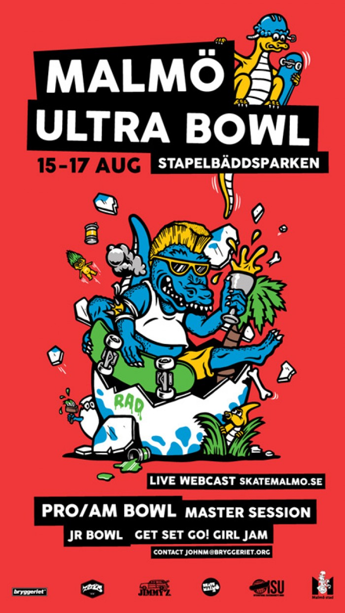 Malmo Ultra Bowl will consist of a Pro/Am Bowl contest, Master Session, Jr. Bowl contest and The Get Set Go! Girl Jam contest at Stapelbaddsparken in Malmo, ...