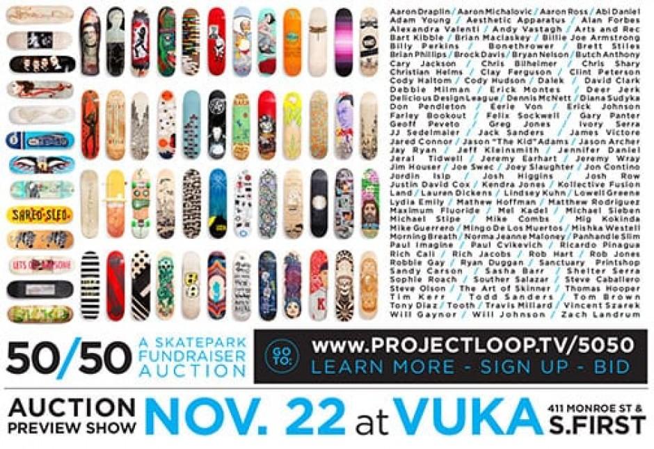 50/50 Skatepark Fundraiser
