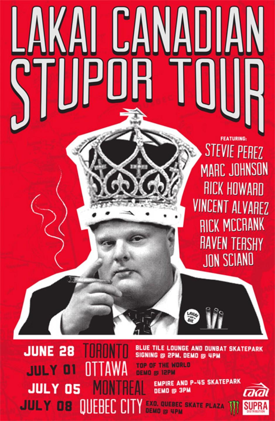 Lakai Canadian Stupor Tour