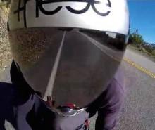 Jesse Martinez skates downhill
