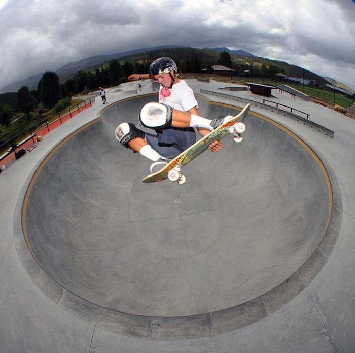 Derek takes it easy after skateboarding