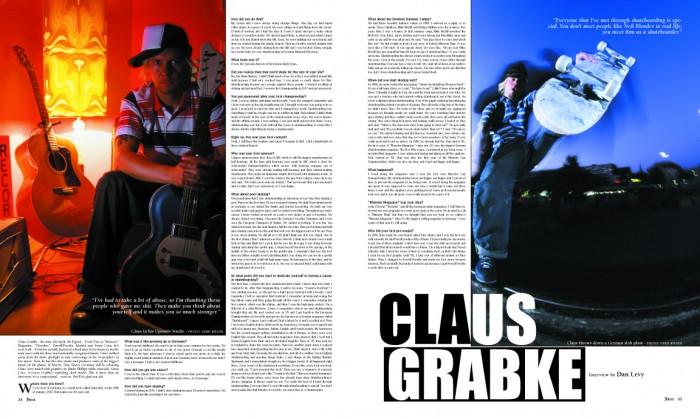 Claus Grabke photos by Gerd Reiger