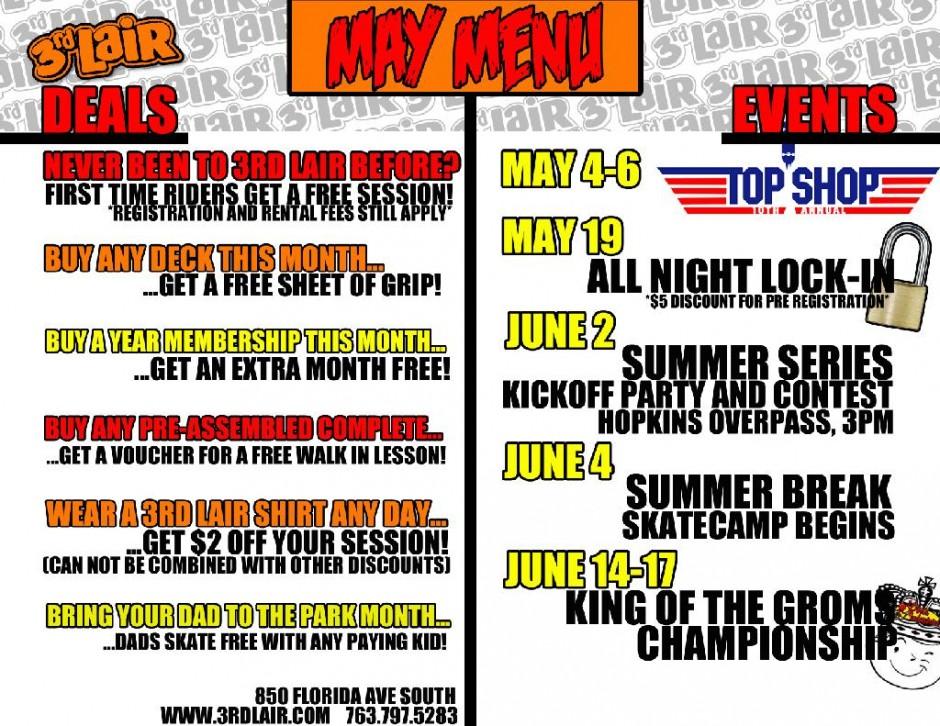 May at 3rd Lair