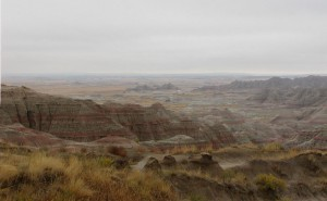 Badlands_in_South_Dakota