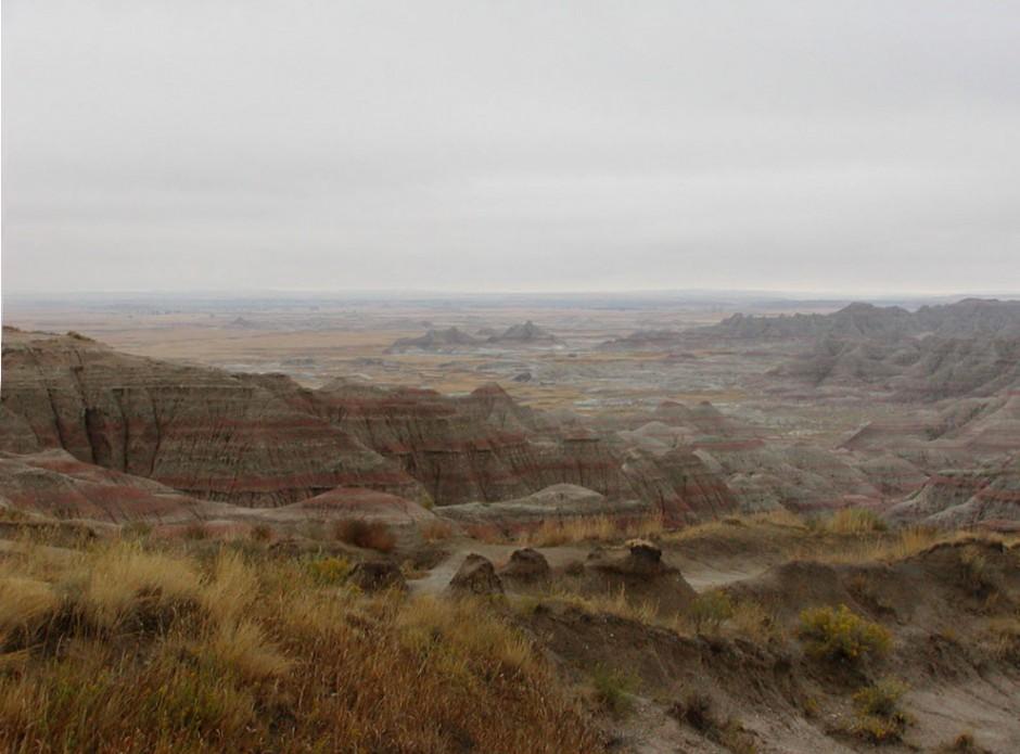 Badlands_in_South_Dakota