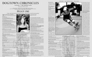 DOGTOWN CHRONICLES: PEGGY OKI photos by Jason Everts