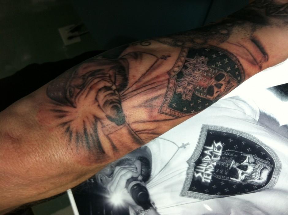 DJ Farley got Inked at Classic Tradtions Tattoo