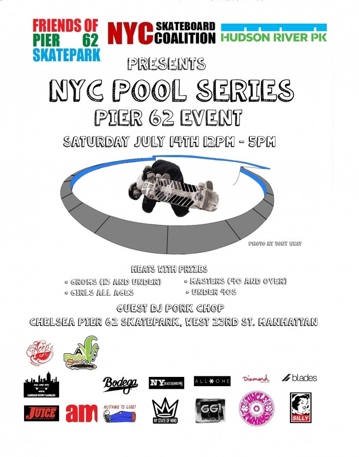 NYC Pool Series Pier 62 Event on Saturday July 14th in New York City