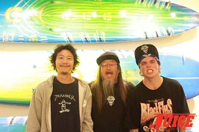 Shota Kubo, Jeff Ho and Seven Adams. Photo by Dan Levy