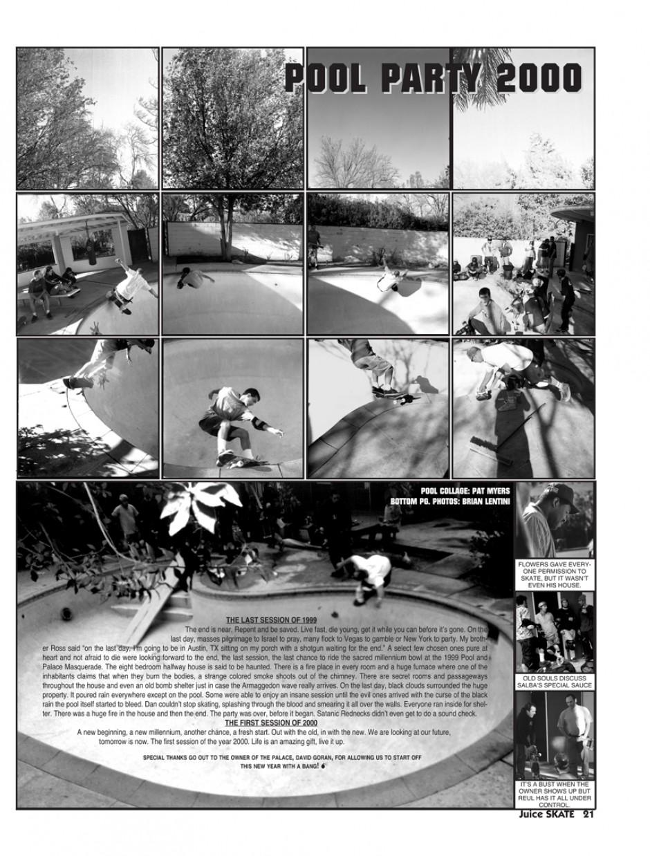 POOL JAM 2000. PHOTOS: BRIAN LENTINI