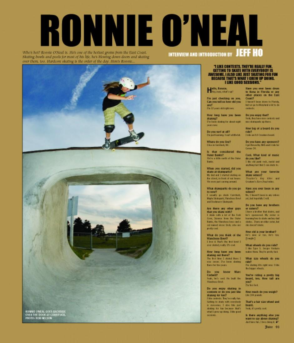 RONNIE O'NEAL