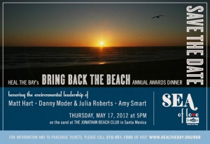 Save the Date Heal the Bay Bring Back the Beach