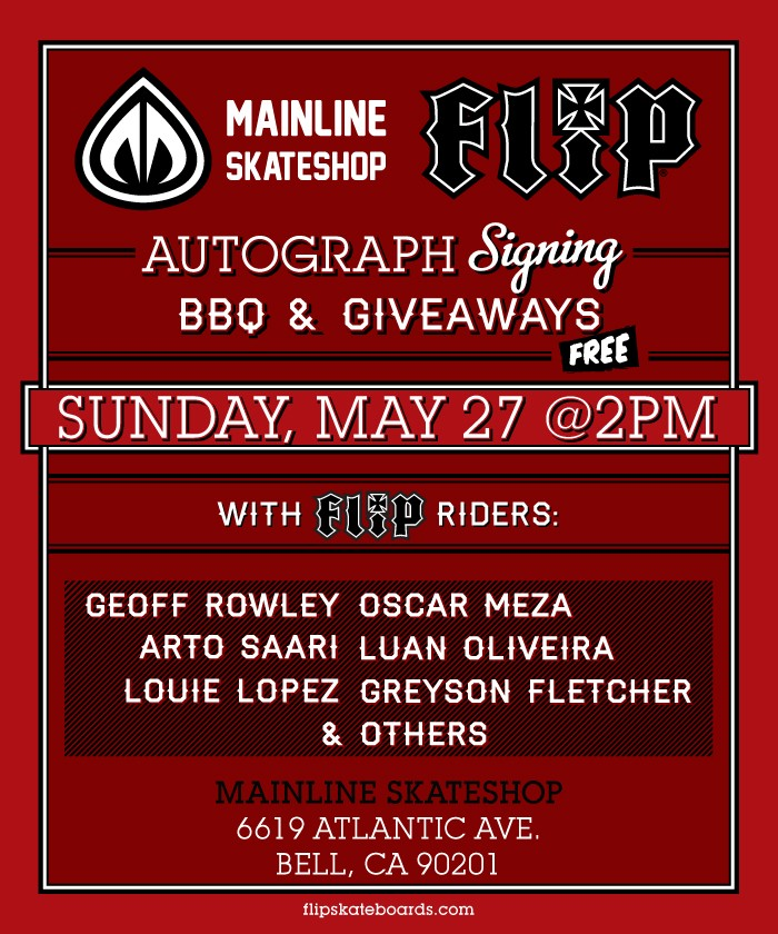 Flip Signing and BBQ