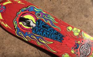 Doug Smith Artwork on Jesse Martinez World Industries skateboard