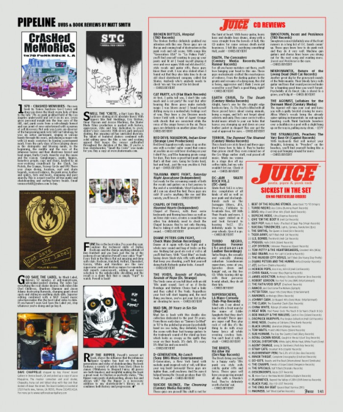 JUICE MAGAZINE CD REVIEWS 66