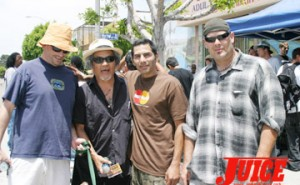 Pops Hosoi, Jesse Martinez and friends. Photo: Dan Levy