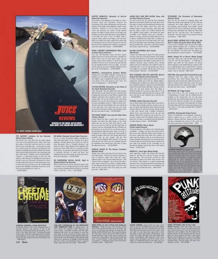 JUICE MAGAZINE CD REVIEWS 68