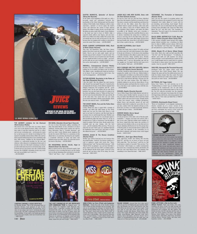 JUICE MAGAZINE CD REVIEWS 68