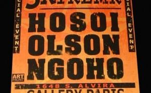 HOSOI and OLSON and NGOHO ART SHOW. Photo: Dan Levy