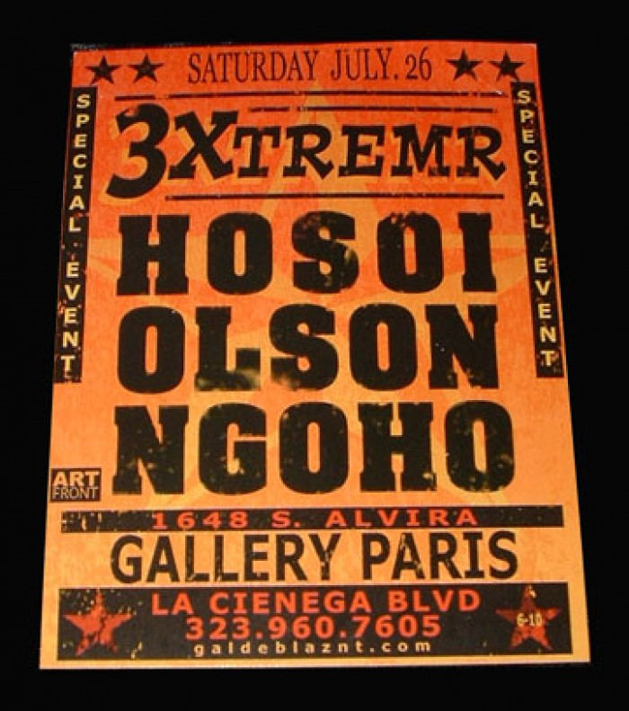HOSOI and OLSON and NGOHO ART SHOW. Photo: Dan Levy