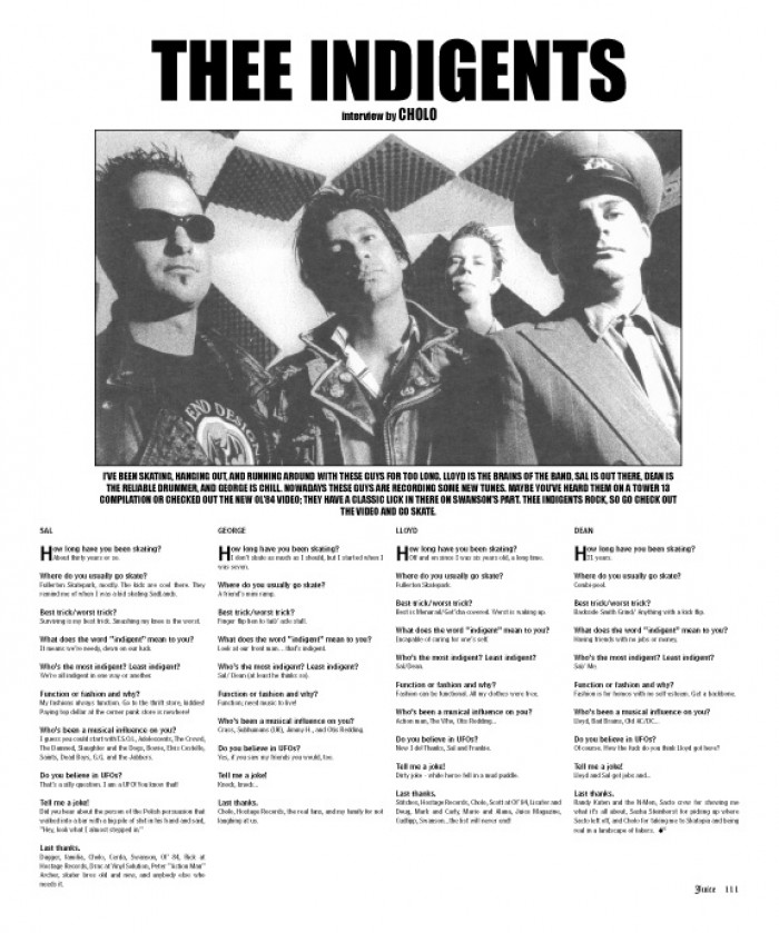 THEE INDIGENTS