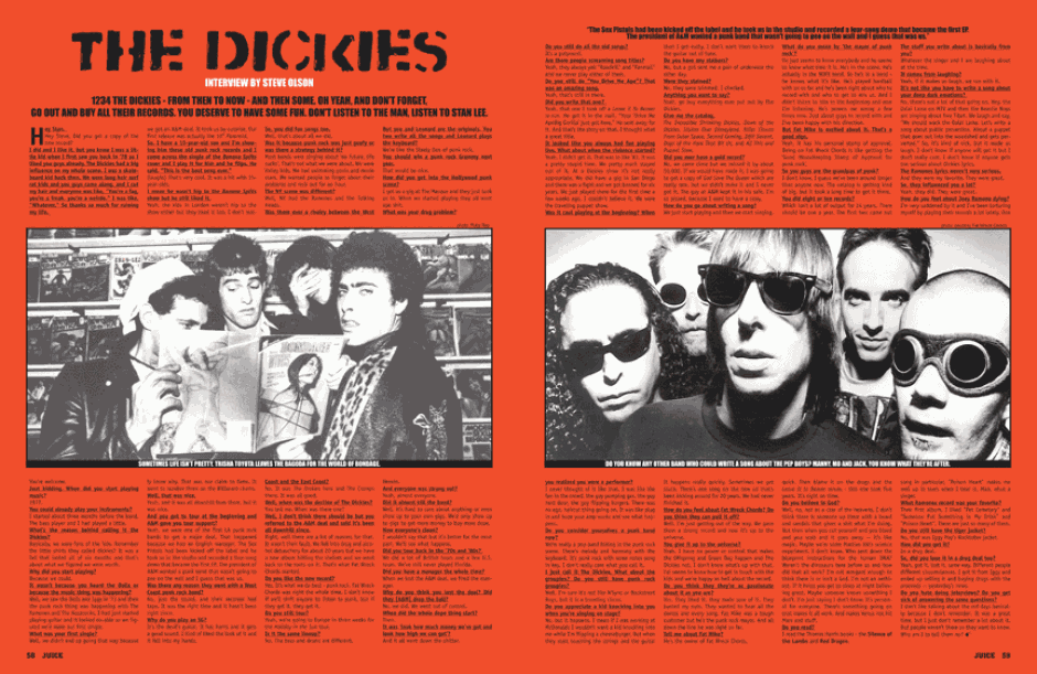 THE DICKIES photos by Ruby Ray and Fat Wreck Chords