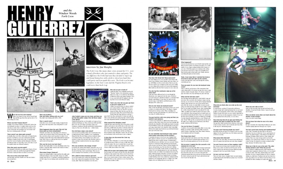 FORK CREW - Henry Gutierrez with photos by Charles Harmon, Virgil Tripp and John Fudula,